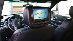"""Advent 7"""" Headrest DVD System in a Ford Explorer"""