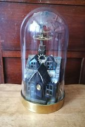 Small house in dome steampunk style