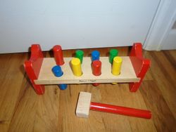 Melissa & Doug Pound-a-Peg Pounding Bench with Mallet - $6