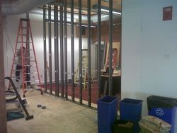 Progress Image 2: Metal Framing Going Up For New Storage Room