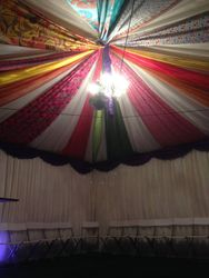 Hippy 60's theme marquee roof