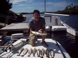 John with alot of trout.