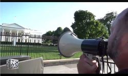 Alex Jones Goes On Epic Rant With Bullhorn Outside The White House