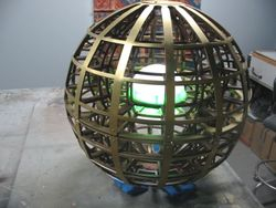 Self-contained/ programmable GLOBE w/ electro-magnetic lock