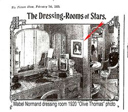 OLIVE THOMAS hanging in Mabel's dressing room