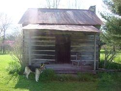 Larson Cabin...and Sammy