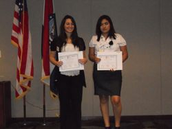Two of the Recipients of the Hispanic ECS Fund Scholarships