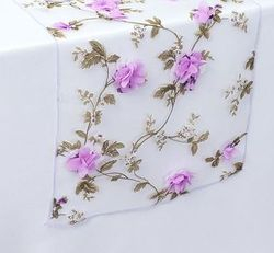 Sheer Table Runner with 3 D Flower -More Color