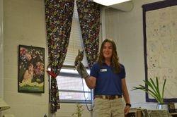 Naturalist teaches about screech owls