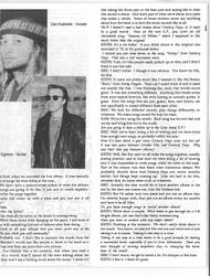 "Gone Away era interview/article - ""Ricochet"" 1989 Page 2"