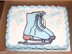 Iceskates Cake