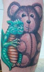 Glenn's Dragon and Teddy