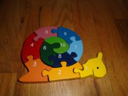 BeginAgain Wooden Number Snail Puzzle - $7
