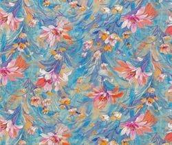 WTP 257 Flowers Blue