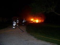 Boat Fire, NE 60th Ave, 7-2-11