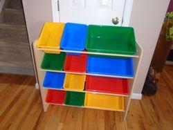 Toy Storage Organizer with Bins - $40