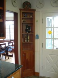 Petite corner cabinet-Cherry