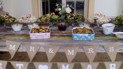 lovely rustic buffet