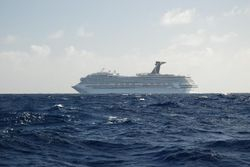The cruise ship we passed after 3 days at sea