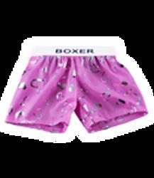 Pink satin boxers