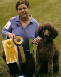 Penny with new RN title and winning third place at PCA National Specialty.  4/22/08.