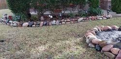 Cobble stone flowerbeds, Grand Prairie, TX