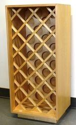 """Wine rack: 35""""high x 17""""wide x 12""""deep  $85.00"""