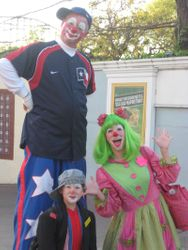 Clowning at Six Flags to benefit Childrens Hospital