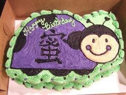 Purple Ladybug Cake