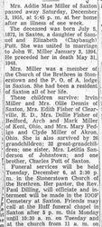 Miller, Addie Mae Putt 1955