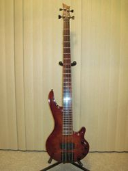 USA 1996 Curbow Petite 33 Fret Bass Guitar.