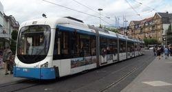 Variobahn tram No. 3274 in Bismarckplatz.