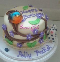 Cute Bird and Dalmatian  Dog cake 1(SP022)