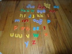 Wood Alphabet Letters- Quantity of 57 - $3