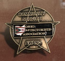 ODA COMMUNITY SERVICE BRASS PINS AWARDED AT THE PARTY