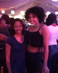 Tiara West and Demetria McKinney attend ATL Live On The Park: Season 7 - Park Tavern