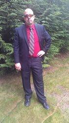 Dressed to DJ a wedding