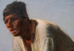 Millet, Man with a Hoe, detail, Getty