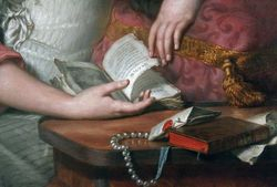 Agesci, (formerly ascribed to Greuze), Woman Reading Letters of Abelard and Eloise, Chicago