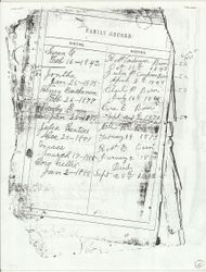 Anderson Family Bible Page