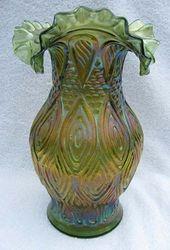 Mitred Ovals vase, green