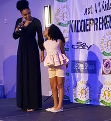 Demetria McKinney And Amiya attend KiddiePreneur Recognition Event - iPlay America