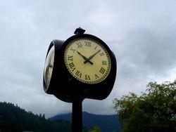 La grande horloge du village