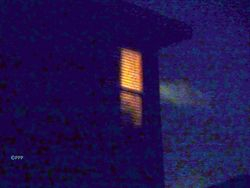 The figure in the window.