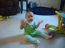 My Granddaughter Lexi at 1 yr. old (Gentry & Steve's  Daughter)