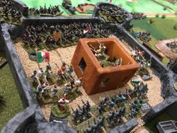 desperate fighting at the fort