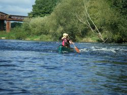 Canadian canoeing, River Wye
