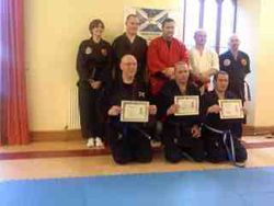 Presentation to Successful Candidates at Senior Kempo Kyu Gradings - Aberdeen 2012