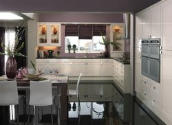 COLONIAL DECOR GLOSS OYSTER KITCHEN
