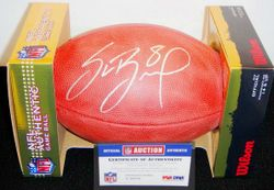 RAMS - SAM BRADFORD ROOKIE SIGNED AUTHENTIC FOOTBALL
